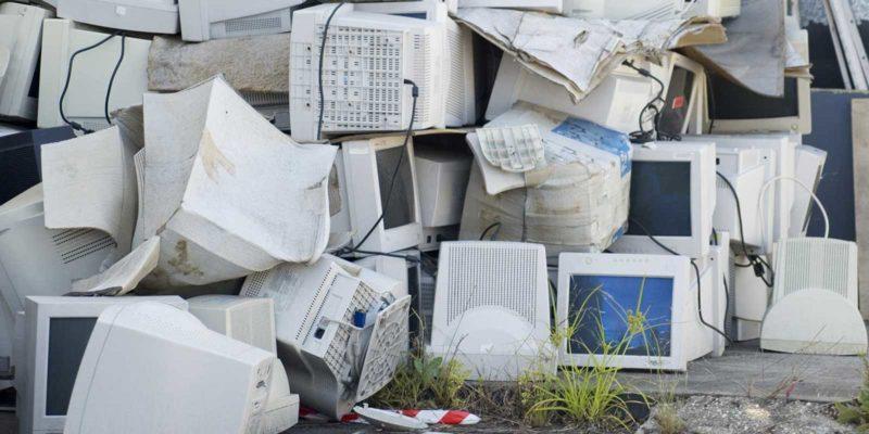 Electronic waste outside