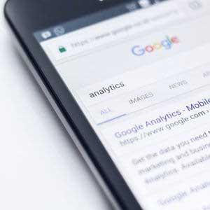 Google search results on a mobile phone
