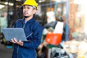 Employee leading data destruction in warehouse