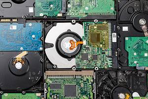 Hard drive filled with data