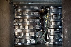 Hard drive shredding service