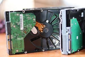 Hard drive sitting on desk