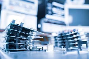 Hardware on table for data destruction