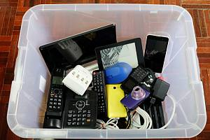 Items collected for data destruction