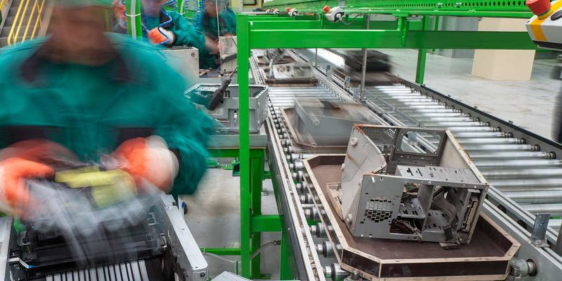 electronics being separated and recycled at a plant.jpg