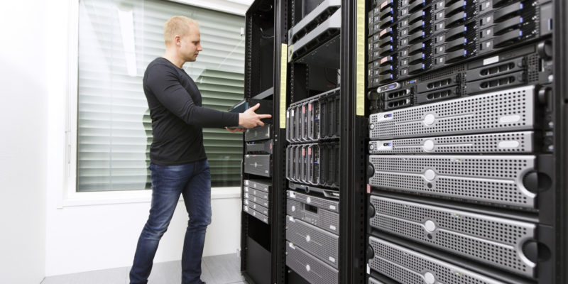 before electronic data destruction the employee removes a component of the server